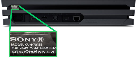PS4: Serial and Model Number Location
